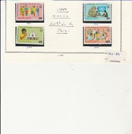 VANUATU - TMBRES N° 751 A 754 - ANNEE 1986