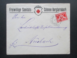 DR 1925 Nr. 371 Einfachfrankatur Freiwillige Sanitäts Colonne Burgfarrnbach.Fürth In Bayern. Rotes Kreuz - Briefe U. Dokumente