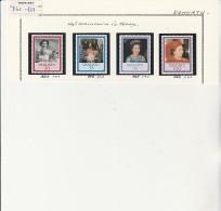 VANUATU - TMBRES N° 735 A 739- ANNEE 1986
