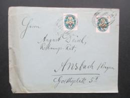DR 1926 Nr. 375 Unterrand Mehrfachfrankatur . Deutsche Nothilfe. Bahnpost Zug 121 - Briefe U. Dokumente