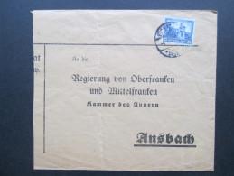DR 1932 Nr. 477 Einfachfrankatur. Deutsche Nothilfe. Burgen Und Schlösser. Regierung Von Mittelfranken - Briefe U. Dokumente