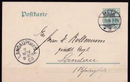 Postkarte Metz  Moselle 1908 Cachet Allemand Pour Landau Pfalz - Metz