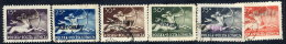 POLAND 1950 Currency Reform Handstamp On Centaur Airmail Set, Used.  Michel 586-90 - 1944-.... Republic