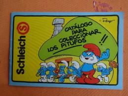 PUBLICITE PAPIER CATALOGUE COLLECTIONNEURS SCHTROUMPFS EDITI ESPAGNOLE CATALOGO LOS PITUFOS PEYO - Figurines