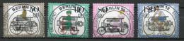 """Germany Berlin,Westberlin 1985 Mi.Nr.735/38 Mit ESST """"Jugend-Historische Fahrräder,Büssing Rad""""4 Werte Used. - Vélo"""