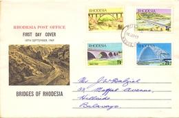 RHODESIA FDC BRIDGES OF RHODESIA 1969   (SET160288) - Zimbabwe (1980-...)