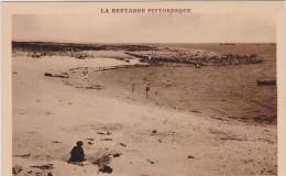 Côtes D  Armor :  ILE  GRANDE : Plage-  Port   Gélin - France