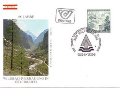 OSTERREICH 1984  CENTENARY OF WILDBACHVERBAUUNG    (SET160289) - Ponti