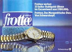 OSTERREICH  POST CARD ADVERTISING (SET160295) - Orologeria
