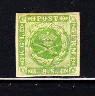 Denmark MH Scott #5 8s Royal Emblems - 1851-63 (Frederik VII)