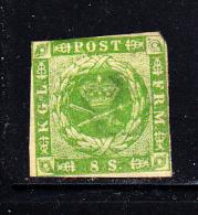 Denmark Unused Scott #5 8s Royal Emblems - 1851-63 (Frederik VII)