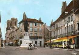 CPSM - LANGRES (52) - Aspect De La Place Diderot Et Du Café-Restaurant Au Balcon En 1965 - Langres