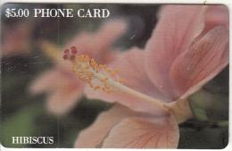 BAHAMAS ISL.(chip) - Hibiscus(gold Number), Chip GEM1, Tirage %20000, Used - Bahamas