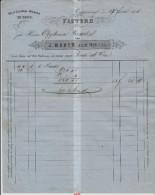 1875  Factura - J. Weber Zum Neuhof - Oel & Colonial-Waren En Gros - Rapperwyl - Nach Vorderthal - Suisse