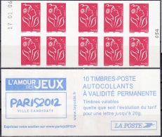 France 2005 Yvert Carnet 3744 - C1 Neuf ** Cote (2012) 11.00 Euro Marianne De Lamouche Paris 2012 Ville Candidate - Freimarke