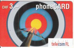 LIECHTENSTEIN - Target, Telecom FL Promotion Prepaid Card, Used - Liechtenstein