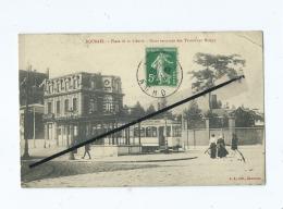CPA  - Roubaix  - Place De La Liberté - Point Terminus Des Tramways Mongy - Roubaix