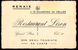 Ronse -  Renaix - Publiciteitskaart HOTEL COUR ROYALE Carte Publicitaire  ( 2 Scans ) - Ronse