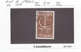 Andorra Franz. 1966 - Nr. 198 - Europa CEPT - Gestempelt Cancelled