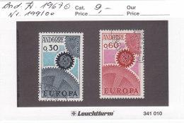 Andorra Franz. 1967 - Nr. 199/00 - Europa CEPT - Gestempelt Cancelled