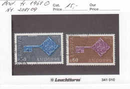 Andorra Franz. 1968 - Nr. 208/09 - Europa CEPT - Gestempelt Cancelled