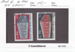 Andorra Franz. 1969 - Nr. 214/15 - Europa CEPT - Gestempelt Cancelled