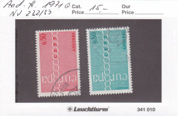 Andorra Franz. 1971 - Nr. 232/33 - Europa CEPT - Gestempelt Cancelled