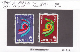 Andorra Franz. 1973 - Nr. 247/48 - Europa CEPT - Gestempelt Cancelled