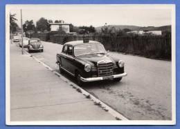 Original Foto 1963, Mercedes + 2 VW, Fotoformat Ca.12,7 X 9 Cm - Automobile