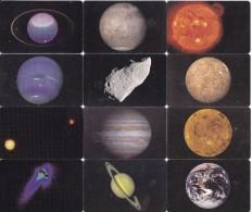 SERIE COMPLETA DE 12 TARJETAS DE MEXICO DE PLANETAS Y COMETAS (PLANET) - Astronomy