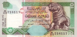 SRI LANKA 10 RUPEES 1.7.2004 P-115c UNC  [ LK114d ] - Sri Lanka