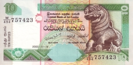 SRI LANKA 10 RUPEES 19.11.2005 P-115d UNC  [ LK114e ] - Sri Lanka