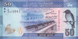 SRI LANKA 50 RUPEES 2010 (2011) P-124a UNC  [ LK124a ] - Sri Lanka
