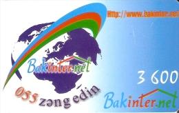 TARJETA DE AZERBAIYAN DE BAKINTER.NET DE 3600 UNITS - Azerbaiyan
