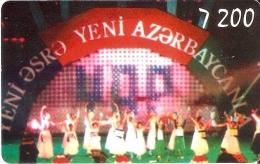 TARJETA DE AZERBAIYAN DE BAILES TRADICIONALES DE 7200 UNITS - Azerbaïjan