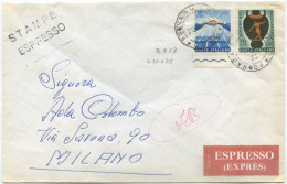 1963 GIOCHI L. 15+70 BUSTA 21.9.63 GIORNO EMISSIONE 21.9.63 TARIFFA STAMPE ESPRESSO L. 10+75 OTTIMA QUALITÀ  (6937) - 1961-70: Storia Postale