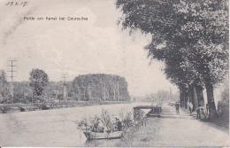 AK Partie Am Kanal Bei Courselles - 1. WK (25018) - Courcelles