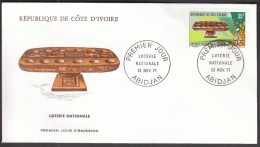 Ivory Coast Abidjan 1971 / FDC / National Lottery - Giochi