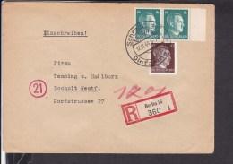 """Deutsches Reich Einschreibbrief Werbestempel Berlin """" Schreib Auf Dinformaten """" 1944 Ansehen.. - Deutschland"""