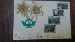 CPSM CUNEO SALUTI EDELWEISS - Cuneo