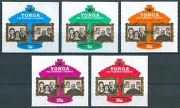 1970 Tonga Royal Visit Adhesives Ordinary / Airmail / Air Service Set ** 3 Scans - Tonga (1970-...)