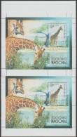 Cuba 2007 Y&T BF 223 Michel Bl. 223. Essai En Morceau De Feuille. Blocs Se-tenant, Non Rognés. Girafes