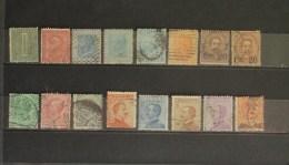 Italia Regno 1863 - 1908 Lotto 16 Valori Usati Effige V.E.II Umberto E V.E.III - 1861-78 Vittorio Emanuele II