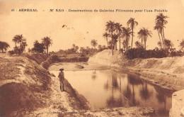 "06331 ""SÉNÉGAL - M' BAO - CONSTRC. DE GALERIES FILTANTES POUR L'EAU POTABLE"" ANIMATA. CART. ILL. ORIG. NON SPEDITA - Senegal"