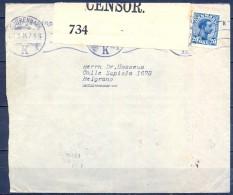 1916 , DINAMARCA , SOBRE CIRCULADO ENTRE KOBENHAVN Y BELGRANO - BUENOS AIRES , CENSURA , LLEGADA - Brieven En Documenten