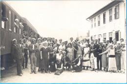 """Kingdom YU. Serbia. Kacanik. The Kraljevo-Skoplje Railway Line. The """"Obilic"""" Choral Society. - Stations With Trains"""