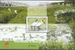 China Macau 2015 S/S Macao Wetlands Bird Stamp - 1999-... Chinese Admnistrative Region