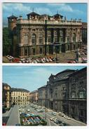 2 Cartolina Torino Turin FG Colori NV Palazzo Madama E Palazzo Carignano  Editore Sacat E IRC Mostra Bauhas - Palazzo Carignano
