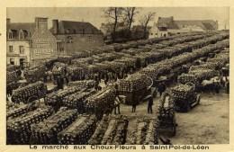 29 SAINT-POL-de-LEON Le Marché Aux Choux-Fleurs, Très Animée - Saint-Pol-de-Léon