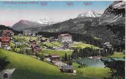 AROSA → Dorfpartie Untersee, Schöner Colorierter Lichtdruck Anno 1925 - GR Graubünden